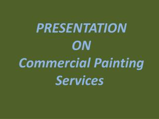 Commercial Painting Contractors MI