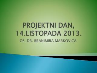 PROJEKTNI DAN, 14.LISTOPADA 2013.