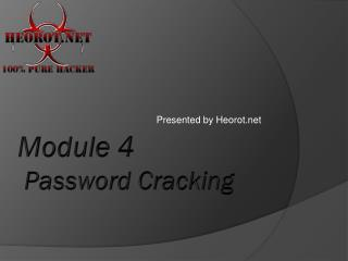 Module 4  Password Cracking