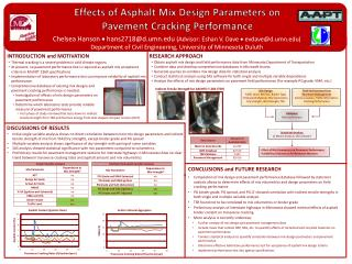 Effects of Asphalt Mix Design Parameters on  Pavement Cracking Performance