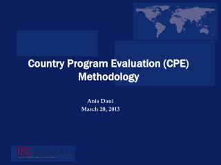 Country Program Evaluation (CPE) Methodology