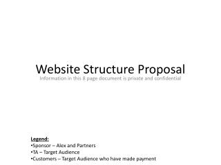 Website Structure Proposal