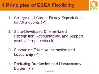 4 Principles of ESEA Flexibility