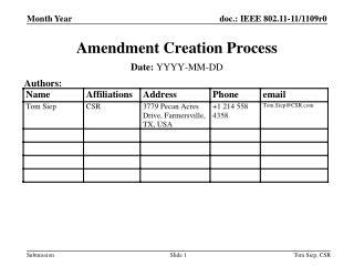 Amendment Creation Process