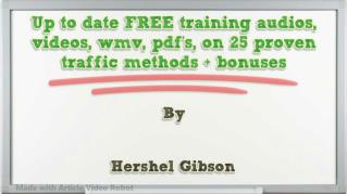 ppt 38098 Up to date FREE training audios videos wmv pdf s on 25 proven traffic methods bonuses
