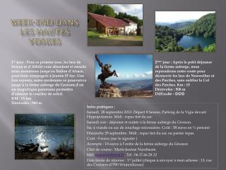 Week-end dans les Hautes Vosges