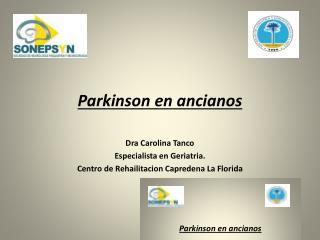 Parkinson en ancianos