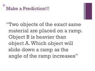 Make a Prediction!!!