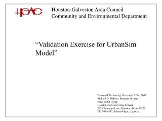 Houston-Galveston Area Council Community and Environmental Department