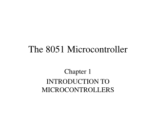 Introduction to the C8051 Microcontroller