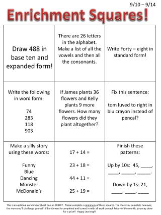Draw 488 in base ten and expanded form!