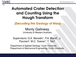 Automated  Crater Detection  and  Counting Using  the  Hough  Transform