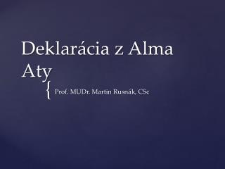 Deklarácia z Alma  Aty