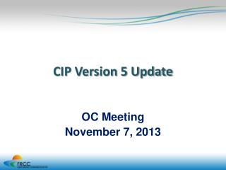 CIP Version 5 Update