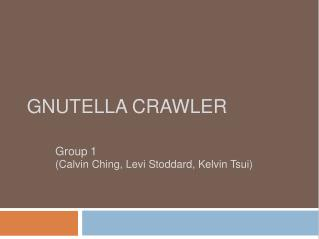 Gnutella Crawler