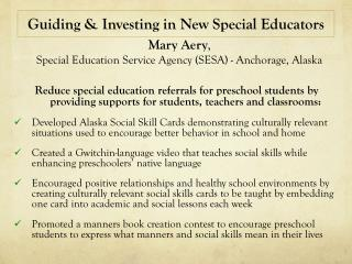 Guiding & Investing in New Special Educators