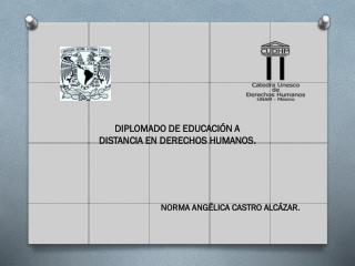 DIPLOMADO DE EDUCACIÓN A DISTANCIA EN DERECHOS HUMANOS.