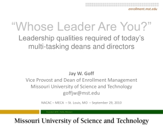 LEADERSHIP DEVELOPMENT FOR THE 21st CENTURY LEAD 21