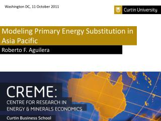 Modeling Primary Energy Substitution in Asia Pacific