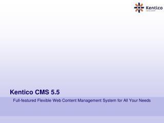 Kentico CMS 5.5
