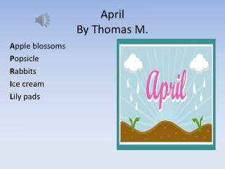 April By Thomas M.
