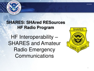 National Communications System NCS   ESF-2 Training
