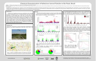 Chemical Characterization of Submicron Aerosol Particles in São Paulo, Brazil