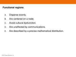 Functional regions