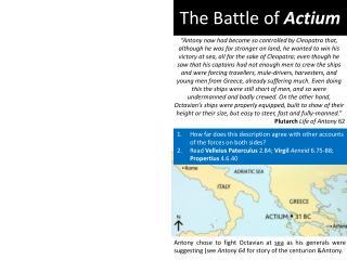The Battle of  Actium