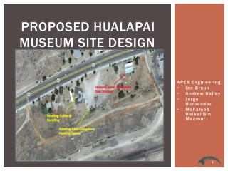 Proposed Hualapai Museum Site Design