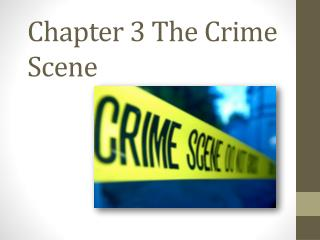 Chapter 3 The Crime Scene