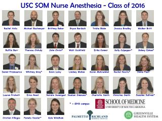USC SOM Nurse Anesthesia - Class of  2016