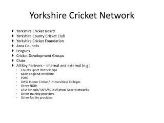Yorkshire Cricket Network