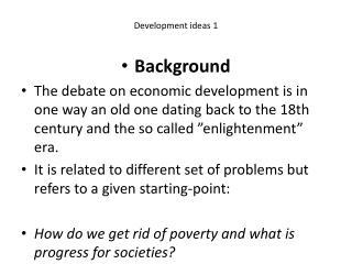 Development  ideas  1