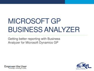 Microsoft gp business analyzer