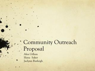 Community Outreach Proposal