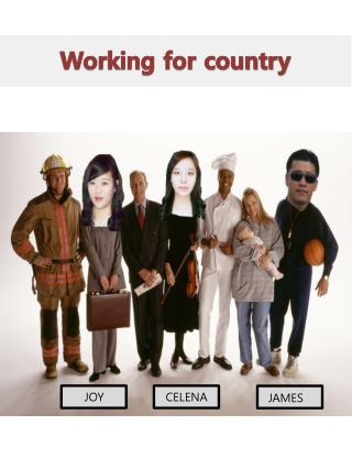 Working for country