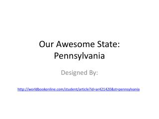 Our Awesome State: Pennsylvania