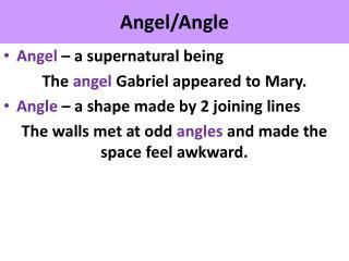 Angel/Angle