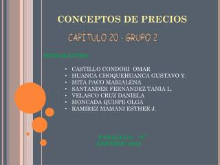 CONCEPTOS DE PRECIOS