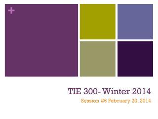 TIE 300- Winter 2014