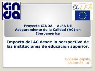 Gonzalo Zapata, Educación, UC.