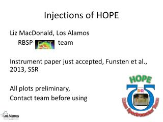 Injections of HOPE