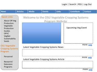 Welcome to the OSU Vegetable Cropping Systems  Program Website