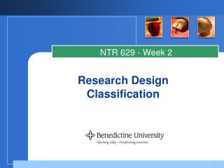 Research Design Classification