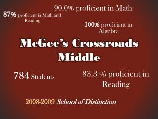 McGee's Crossroads Middle