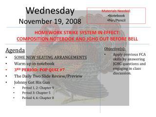 Wednesday November  19,  2008