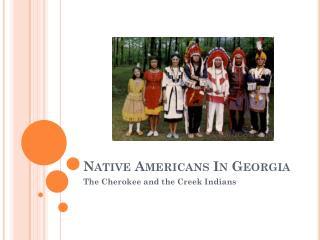 Native Americans In Georgia