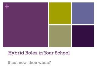Hybrid Roles in Your School