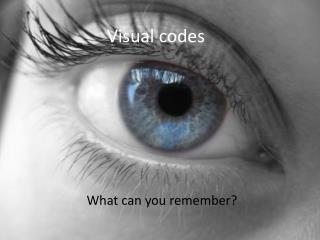 Visual codes